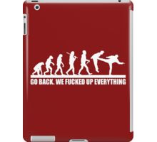 Funny Human Evolution iPad Case/Skin