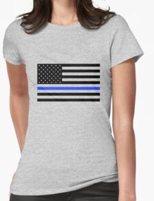 Thin Blue Line American Womens Fitted T-Shirt