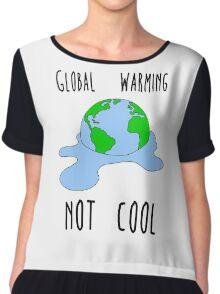 Global warming - not cool Chiffon Top