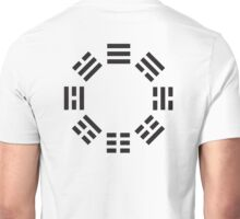 I Ching, Symbol, Chinese, China, Book of Changes, Black on White Unisex T-Shirt