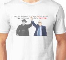 """We welcome their hatred."" | Short Quote | Franklin D. Roosevelt & Bernie Sanders Unisex T-Shirt"