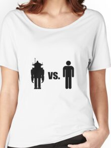 Robot VS Human Women's Relaxed Fit T-Shirt