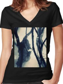 To Suffer  Women's Fitted V-Neck T-Shirt