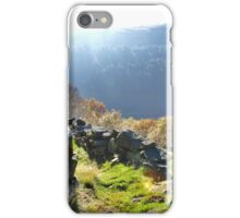 Yorkshire on the brink of the Peaks iPhone Case/Skin