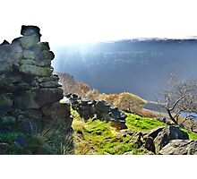 Yorkshire on the brink of the Peaks Photographic Print