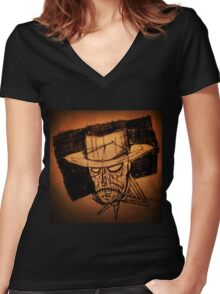 Old West  Women's Fitted V-Neck T-Shirt