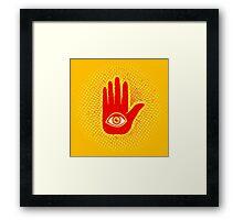 Hand and eye Framed Print