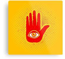 Hand and eye Metal Print