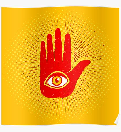 Hand and eye Poster