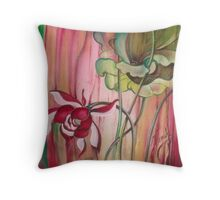 """""""Time to Stand Up"""" from the series """"In the Lotus Land"""" Throw Pillow"""