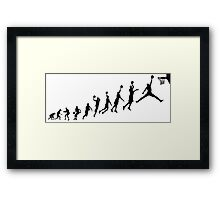 Jumpman evolution Framed Print