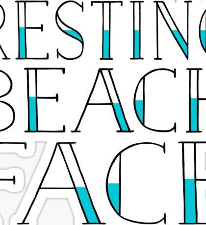 Resting Beach Face Sticker
