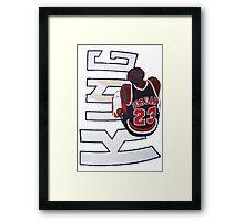King Jordan Framed Print