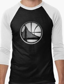 golden state warriors black Men's Baseball ¾ T-Shirt