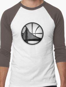 golden state warriors black Men's Baseball ¾ T-Shirt