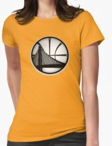 golden state warriors black Womens Fitted T-Shirt