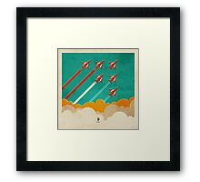 The Red Arrows over the Thames Estuary Framed Print
