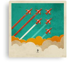 The Red Arrows over the Thames Estuary Canvas Print