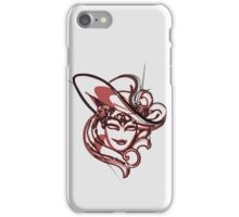 Red venice mask iPhone Case/Skin
