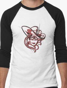 Red venice mask Men's Baseball ¾ T-Shirt