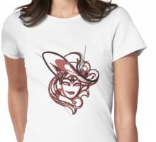 Red venice mask Womens Fitted T-Shirt