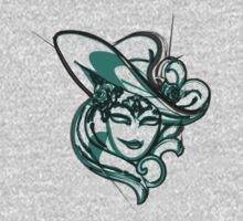 Green venice mask One Piece - Long Sleeve