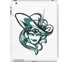 Green venice mask iPad Case/Skin