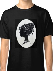 Vintage Fashion Silhouette, Old Fashioned Vanity , Beauty black white Classic T-Shirt