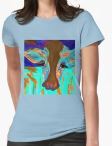 Blue Bovine Womens Fitted T-Shirt
