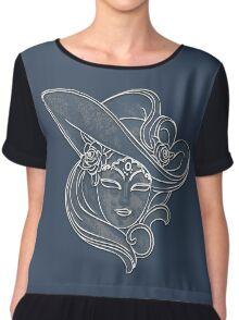 Venice mask - blue Chiffon Top