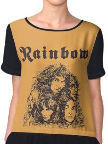 Long Live Rock and Roll Rainbow Chiffon Top