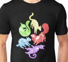 Creepy Kitties in Color Unisex T-Shirt