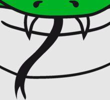 face head cobra comic cartoon angry dangerous toxic Sticker