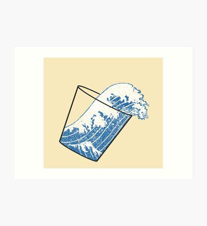 Glass Half Full Event Horizon Art Print