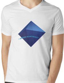 Geometric Screaming Mens V-Neck T-Shirt