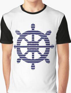 The blue rudder Graphic T-Shirt