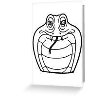 face head cobra comic cartoon angry dangerous toxic Greeting Card