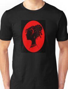Red Vanity , Fashion Goth Silhouette Beauty Paper Cutout Fashion illustration Lady Unisex T-Shirt