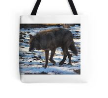 """""""Timber Wolf on the Prowl"""" Tote Bag"""