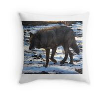 """""""Timber Wolf on the Prowl"""" Throw Pillow"""