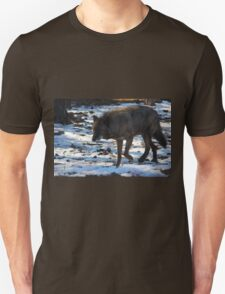 """""""Timber Wolf on the Prowl"""" Unisex T-Shirt"""