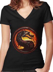 mortal Women's Fitted V-Neck T-Shirt