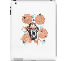 Bear Skull and Chrysanthemums iPad Case/Skin