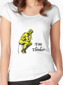 Free Thinker Women's Fitted Scoop T-Shirt