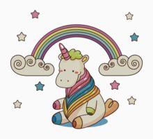 Rainbow, stars and unicorn ^_^ One Piece - Short Sleeve