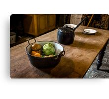 Dunham Massey Kitchen2-Table with pan and pot Canvas Print