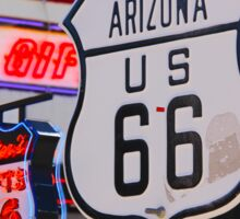 """""""Get Your Kicks on Route 66""""  Sticker"""