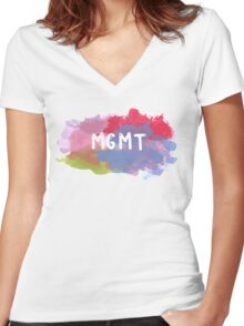 MGMT Women's Fitted V-Neck T-Shirt
