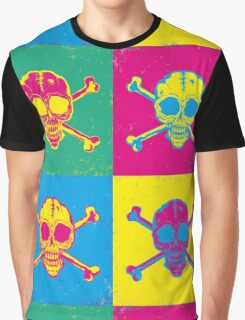 bright color skulls Graphic T-Shirt
