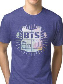 BTS Bulletproof Rainbow Watercolor Tri-blend T-Shirt